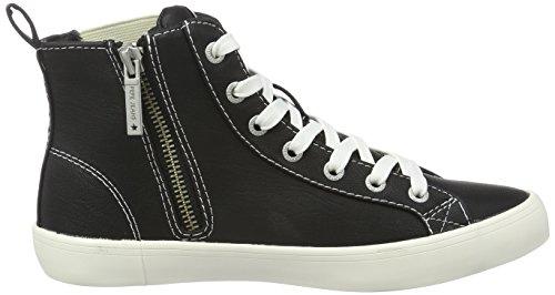 Pepe Jeans Damen Clinton Chelsea High-Top Schwarz (Black 999)