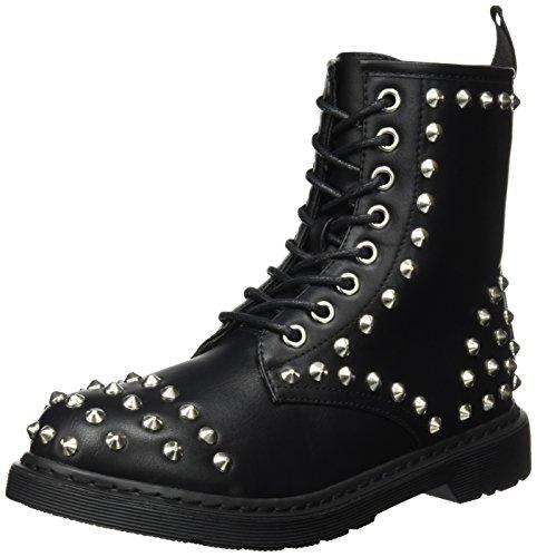 Buffalo Shoes Damen 334619 Leather PU Stiefel, Schwarz (Black 01), 41 EU