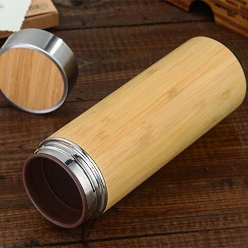 JUGFFROU Bamboo Thermos Insulation Gift Package Shell Ceramic Liner Purple Sand Liner Stainless Steel Thermos Men's Insulation Cups