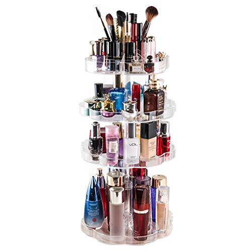 Maquillage Organisateur Boîte de Rangement Grand Rotatif Comptoir Cosmétique Cas de Stockage Bijoux Présentoir de Tiroir Tiroirs pour Rouge À Lèvres, Crème, Brosses