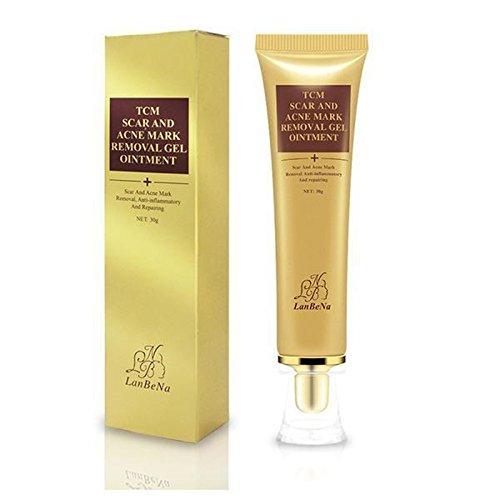 Narbencreme, Narbe Creme Narbe Gel Narbe Behandlung Scar Fade Cream für für Gesicht und Körper Narbe Akne Spots Dehnungsstreifen - Aknenarben, Dehnungsstreifen und Narben