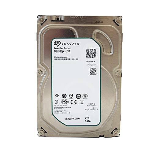 Seagate Barracuda Desktop interne Festplatte 3,5 Zoll, 8,9cm, Desktop PC, HDD, NAS, min. 5900RPM, SATA-600, SATA3, Serial ATA - recertified, Kapazität:4.000GB (4TB), Cache :64MB Cache - Tb 2 Sata 5900 Festplatte