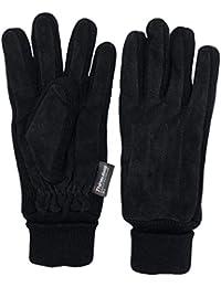 a8ae9343867f46 KaMel GmbH Handschuhe | Damen und Herren | Veloursleder - Wildleder |  Winterhandschuhe mit Strick