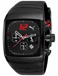 Puma Time 4419944 - Reloj de caballero de cuarzo, correa de caucho color negro