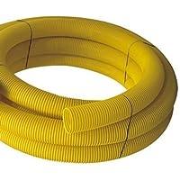 Tubo de drenaje, DN 100, perforado, 10 m, color amarillo