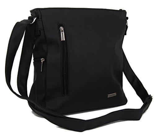 4bec4dc69a34c STEFANO moderne Damen Umhängetasche Schultertasche Frauen Handtasche soft  PU verschiedene Modelle M2 - Blau ...