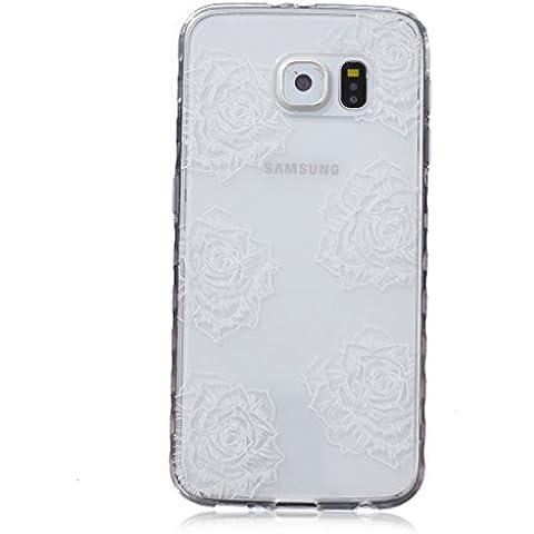 Oro una pressione auenland pois colorati per Samsung galassia S6/S6 Duos in morbido TPU trasparente in silicone pittura ad olio idrosolubili Style soft Cover posteriore per iPhone Multicolore sechs Rosen