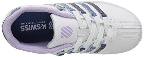 K-Swiss CLASSIC VN Leder Turnschuhe White/PSTL Lilac/Blue HVN