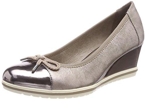 Tamaris 23610, Zapatillas para Mujer, Plateado (Pewter Satin), 40 EU