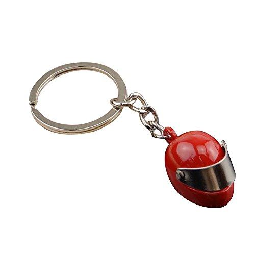 Gespout Portachiavi in Metallo Pendente per Casco Moto Personalizzato Staccabile Auto Portachiavi Uomo Donna Amore Portachiavi Decorazioni,rosso
