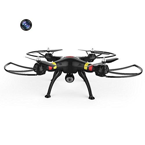*Große Größe Syma X8C 4 Kanal 6 Achsen 2,4 G RC Fernbedienung Quadcopter mit 200W Pixel HD Kamera Blitz leichter Hubschrauber Flugzeug Quad Copter Plane Flugzeug Modell Spielzeug schwarz*