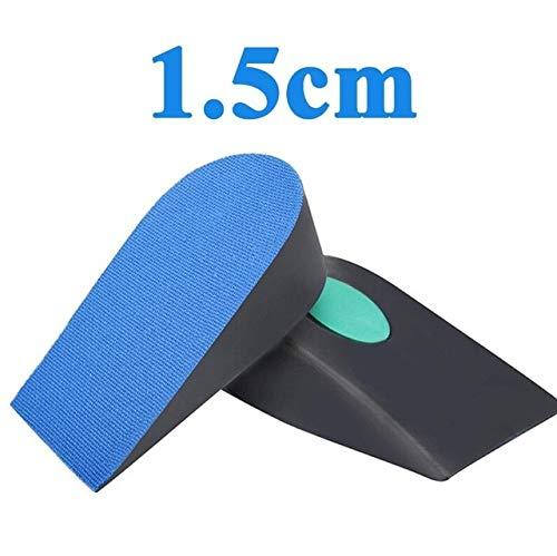KOTWCG Zunehmende Hälfte Einlegesohle Unsichtbar Erhöhen Ferseneinsatz Sportschuhe Pad Höher Erhöhen Einsätze Sohlen Für Männer FrauenBlau L Größe 1,5 cm -