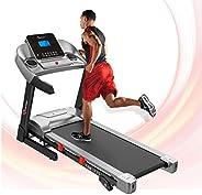 PowerMax Fitness Unisex Adult TAM-225 Ac Motorized Treadmill With Mp3 & Ipad Holder - Black/Grey, General-
