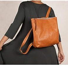 Mochila de cuero marrón, mochila marrón cuero, mochila mujer, mochila piel.