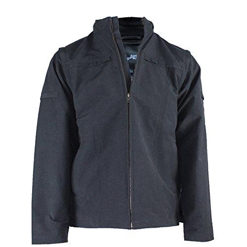 AYEGEAR 25 Pocket Jacke und Weste mit Dual iPad Taschen, Kapuze, Abnehmbaren Ärmeln, Atmungsaktiv Und Wasserdicht, Marine L
