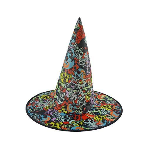 LYY.YY Erwachsenes Kind Bühnenperformance Kleidung Hexenhut Halloween Party Konzertieren Magischer Hut (5 Stück)
