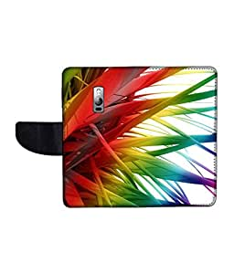 KolorEdge Printed Flip Cover For One Plus 2 Multicolor - (1479-55KeMLogo12342OnePlus2)