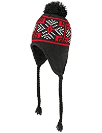 6755ab9bc6c5 Chapeaushop Bonnet Peruvien Snowflakes en Tricot pour Homme