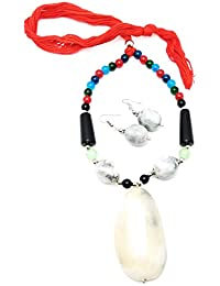 Oxidised German Silver/fashion/Antique/new Design Jewellery Multicolored Necklace Set For Women And Girls - B0789LFY2Y