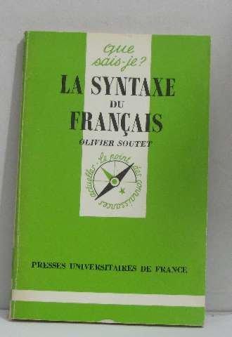 La syntaxe du franais
