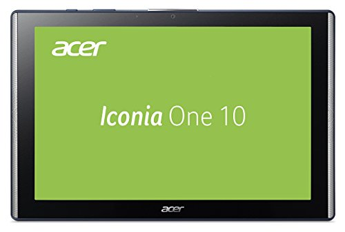 Iconia One 10 (B3-A40) 25,65 cm (10,1 Zoll Multi-Touch, HD, IPS) Multimedia Tablet (MediaTek Quad-Core Cortex A35, 2GB RAM, 32GB eMMC, Micro USB 2.0, MicroSD Kartenleser bis 128GB, Android 7.0) blau/schwarz (außen/innen)