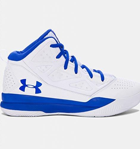 Under Armour Ua Bgs Jet Mid, Chaussures de Basketball Garçon Blanc