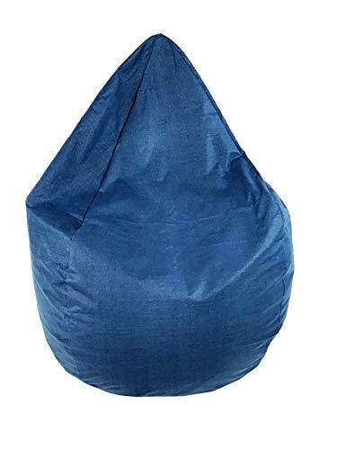 Joyfill Sitzsack mit Bezug, Stuhl für Kinder und Erwachsene, Weicher Stoff, 240L groß - 5032 Edel Blau