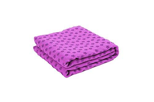Tapis de yoga J-PG® avec surface antidérapante, lilas