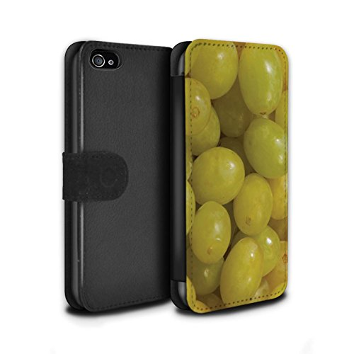 Stuff4 Coque/Etui/Housse Cuir PU Case/Cover pour Apple iPhone 4/4S / Pack 18pcs Design / Fruits Juteux Collection Raisin