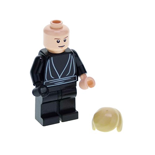 1 Lego Wars-sets Episode Star (1 x Lego System Figur Star Wars Episode 4/5/6 Luke Skywalker Torso schwarz Jedi Robe Augen mit Pupille 1 Hand schwarz Set 10212 sw207)