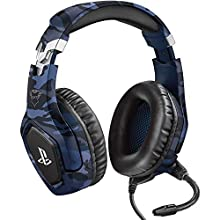 Trust Gaming GXT 488 Forze-B [ Officially Licensed for PS4 ] Gaming Headset for Playstation 4 with Flexible Microphone and Inline Remote Control - Blue