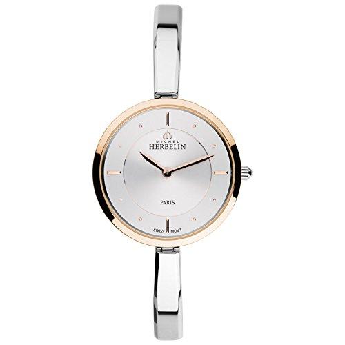 Michel Herbelin escaneado dinave Mujer Reloj Plata/roségoldfarben 17411/btr11