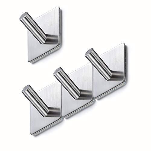 Basicform gancio adesivo in acciaio inossidabile ultra forte adesivo resistente (4 pezzo)