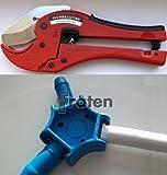 SET- Multi Kalibrierer für Alu Verbundrohr 16,20,25 mm und Rohrschere für Kunststoffrohre