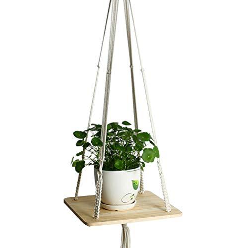 ngenden Korb Sukkulenten Blumentopf Pflanzschale Schlinge Anhänger Blumentopf Schlinge (quadratische Bord) ()