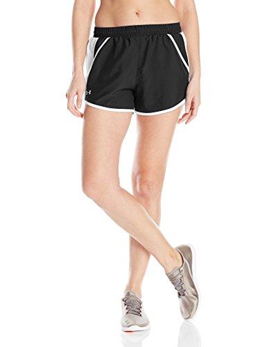 Under Armour Damen Fly By Shorts Running-Kurze Hosen Black/White