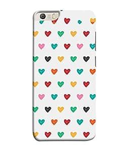 PrintVisa Designer Back Case Cover for Micromax Canvas Knight 2 E471 (Beautiful Little Multi Colour Hearts Love Emotional )