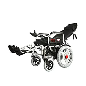 GYH Electric Wheelchair, Foldable Portable Four-Wheeled Smart Care Car, Elderly Disabled Full-Length Wheelchair (#)