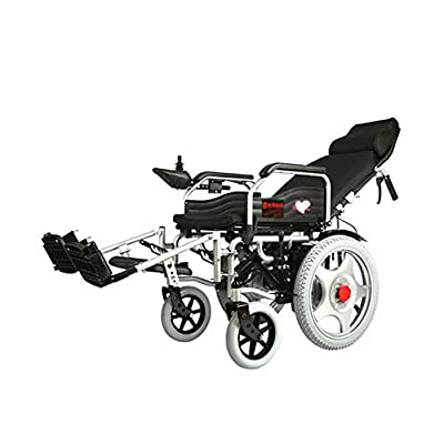 GYH Electric Wheelchair, Foldable Portable Four-Wheeled Smart Care Car, Elderly Disabled Full-Length Wheelchair (#)