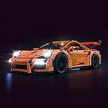 LIGHTAILING Jeu De Lumières pour (Porsche 911 GT3 RS) Modèle en Blocs De Construction - Kit De Lumière A LED Compatible avec Lego 42056(Ne Figurant Pas sur Le Modèle)