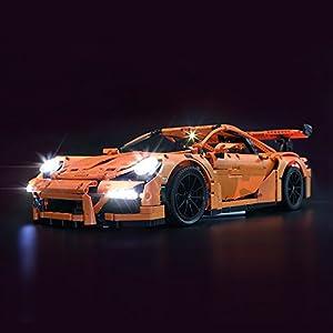 LIGHTAILING Set di Luci per (Porsche 911 GT3 RS) Modello da Costruire - Kit Luce LED Compatibile con Lego 42056 (Non…  LEGO