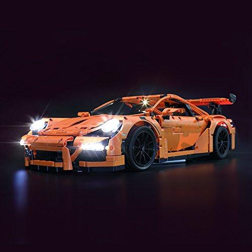 LIGHTAILING Conjunto de Luces (Technic Porsche 911 GT3 RS) Modelo de Construcción de Bloques - Kit de luz LED Compatible con Lego 42056 (NO Incluido en el Modelo).