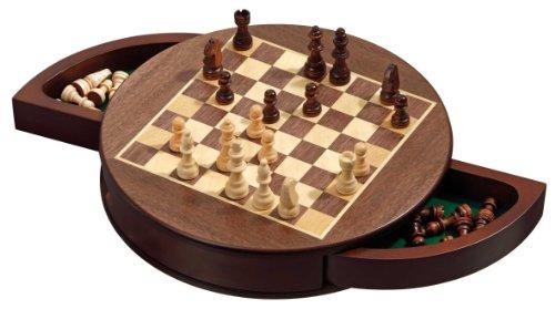 Philos 2727 - Schachkassette rund, Feld 25 mm, Königshöhe 52 mm, magnetisch - Runde Cabinet