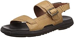 Woodland Mens Tan Leather Sandals - 8 UK/India (42 EU)