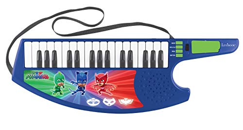 PJ Masks Pijamasks-Keytar el Teclado Guitarra, Instrumento Infantil a Partir de 3 años (Lexibook K280PJM) Musical, Color BLU/Verde/Rosso