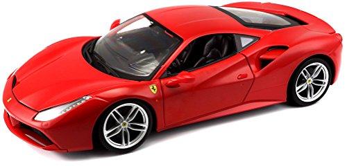 Bburago - Coche de Juguete Ferrari R&P 488 GTB, Escala 1/18, Color Rojo (18-16008)