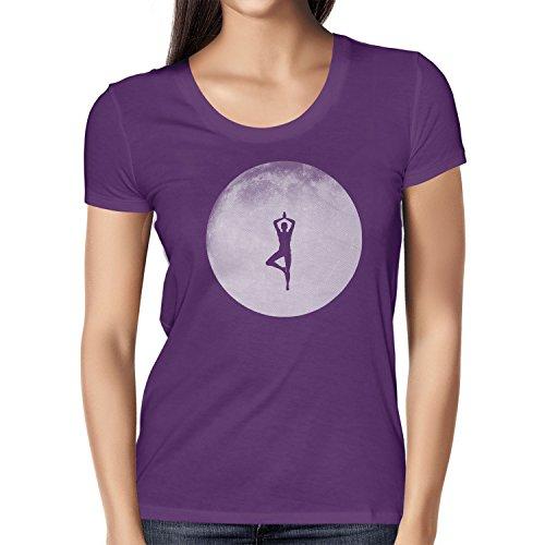 Texlab Full Moon Yoga - Damen T-Shirt, Größe L, Violett