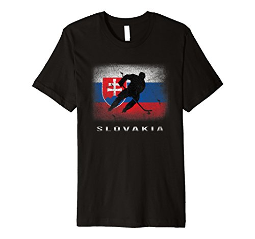 Slowakei Eishockey T-Shirt Slowakische Flagge