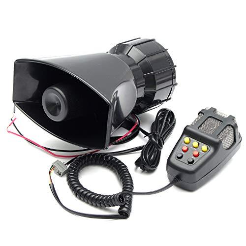 Republe 100W 12V 7 Sounds Auto-LKW-Lautsprecher Warnung Alarm Polizei Feuerwehr-Sirene-Horn laut Ton 105db mit MIC-Mikrofon