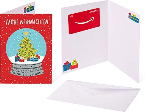 Amazon.de Geschenkkarte in Grußkarte - 30 EUR (Schneekugel)